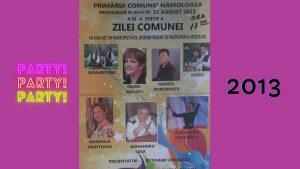 afise ziua comunei Namoloasa 2013-2019